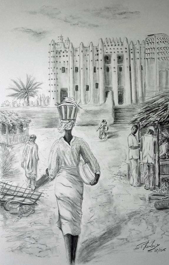 Markttag in Mali